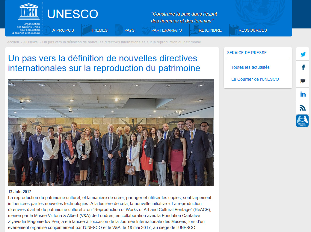 Le descriptif de l'initiative sur le site de l'UNESCO